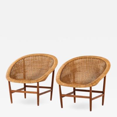 Nanna Jorgen Ditzel Rare pair of easy chairs designed by Nanna J rgen Ditzel