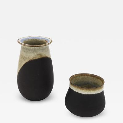 Nanni Valentini Pair of Small Stoneware Vases for Ceramica Arcore 1970s