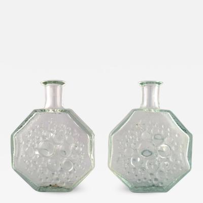 Nanny Still A pair og Finnish Stella Polaris glass art vase