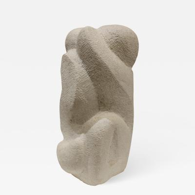 Naomi Feinberg Naomi Feinberg Embrace Sculpture in Vermont Marble 1960s