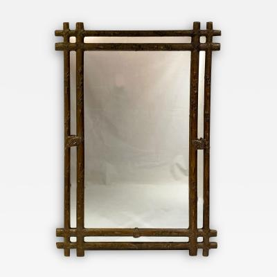 Napoleon III Faux Bois Large Mirror France Circa 1860