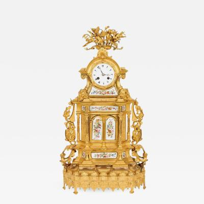 Napoleon III French Ormolu Bronze Opaline Mounted Clock for Ottoman Turkish