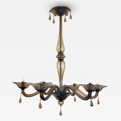 Napoleone Martinuzzi An Elegant Murano 1930s Napoleone Martinuzzi for Venini chandelier