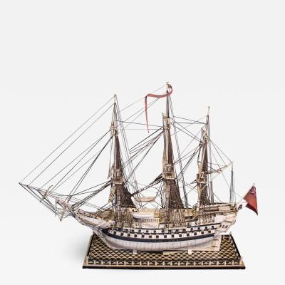 Napoleonic Prisoner of War Model of a 2nd Rate Ship of 72 Guns