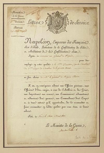 Napoleonic Wars Draft Notice France Circa 1813