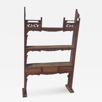 Narrow Antique Shelf
