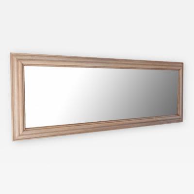 Narrow Bleached Oak Mirror
