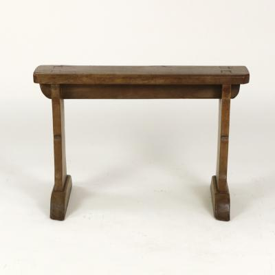 Narrow Fruitwood Bench English Circa 1880