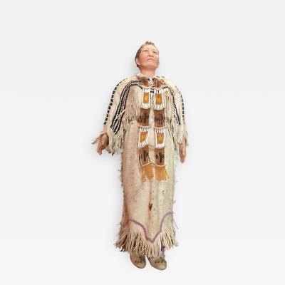 Native American Indian Doll with Traditional Lakota Sioux Cherokee Wedding Dress