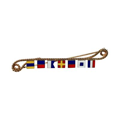 Nautical Flag Brooch DEAREST