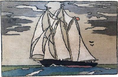 Nautical Hooked Rug