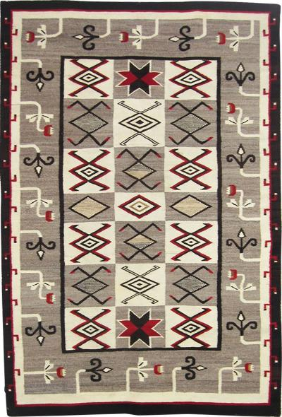 Navajo Dine Regional rug with pictorial elements