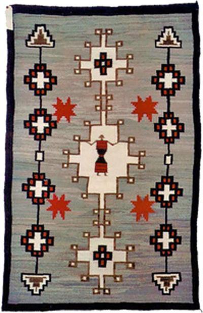 Navajo Dine pictorial rug with Spiderwoman