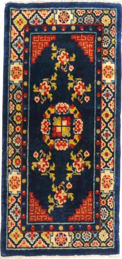 Navy Blue Coral Chinese Peking Rug rug no 31354