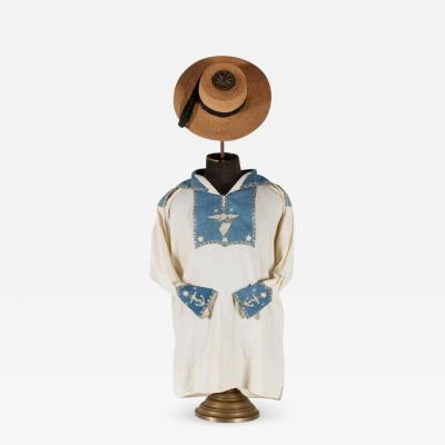 Navymans Frock and Jack Tar Hat with Elaborate Patriotic Decoration