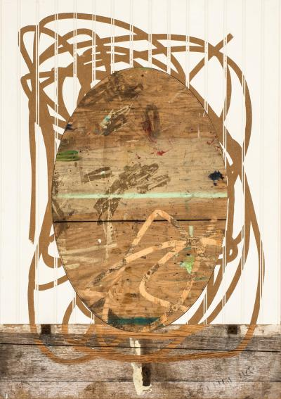 Neal Perbix Untitled Router Drawing 2015