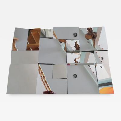 Neal Small Fabulous Original Slopes Cubist Mirror by Neal Small