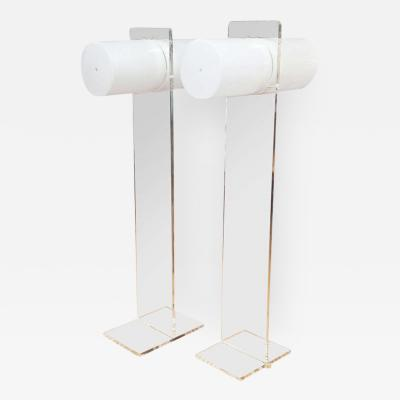 Neal Small Marvelous Mod Lucite Floor Lamps in the Manner of Neal Small