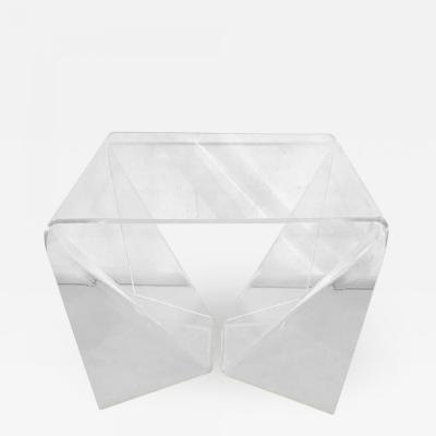 Neal Small Rare Neal Small Origami Table in Clear Lucite