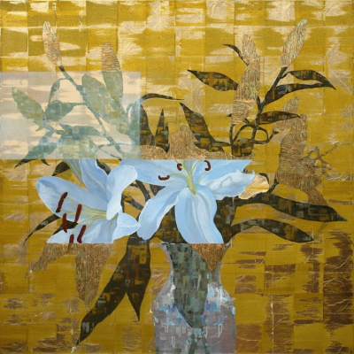 Ned Martin GILDED LILY SQUARE