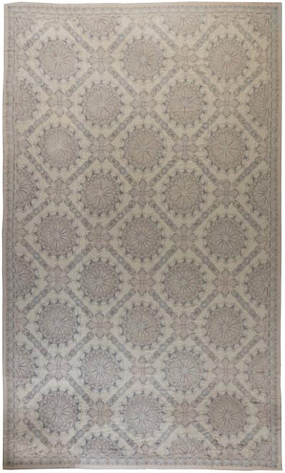 Needlework Rug with Aubusson Design