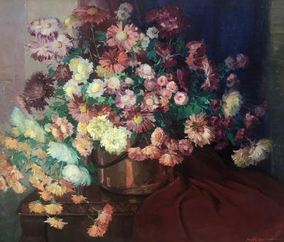 Nell Walker Warner Floral with Copper Pot