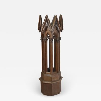 Neo Gothic 19th Century Octagonal Pedestal Stand Architectural Model