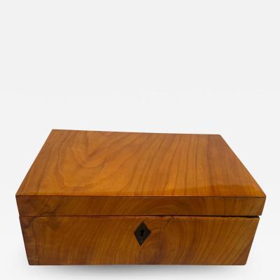 Neoclassical Biedermeier Box Cherry Veneer South Germany circa 1820