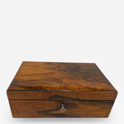 Neoclassical Biedermeier Casket Box Walnut Veneer South Germany circa 1830