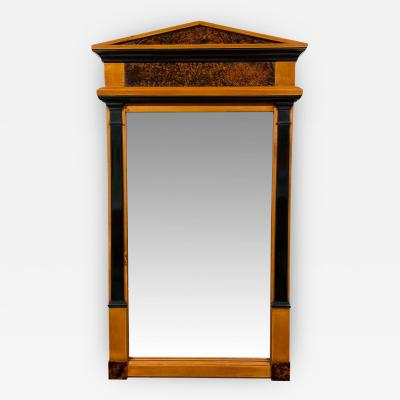 Neoclassical Biedermeier Mirror Cherry Walnut Roots South Germany circa 1820