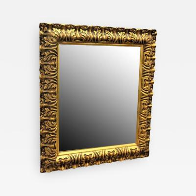 Neoclassical Carved Gilded Gold Wall Mirror