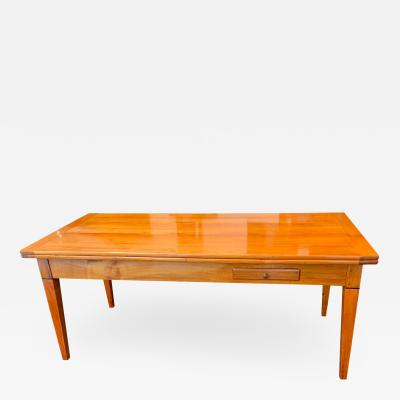Neoclassical Expandable Dining Table Cherry Wood Chestnut France circa 1820
