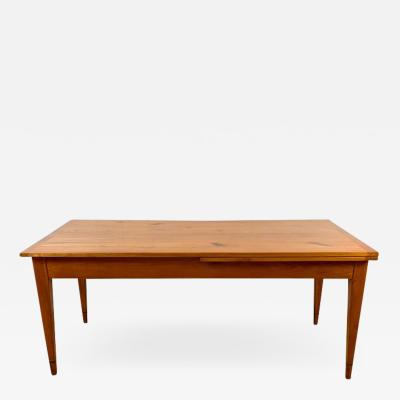 Neoclassical Expandable Dining Table Solid Cherry Chestnut France circa 1820