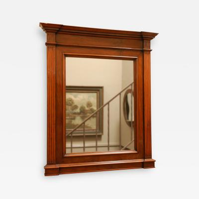 Neoclassical Framed Walnut Wall Mirror