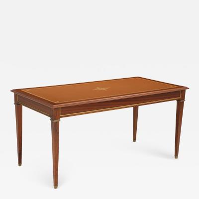 Neoclassical French mahogany writing desk
