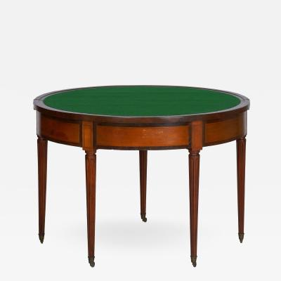 Neoclassical Fruitwood Card Table w Triple Top 19th Century
