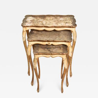 Neoclassical Gilt Florentine Italian Nesting Tables