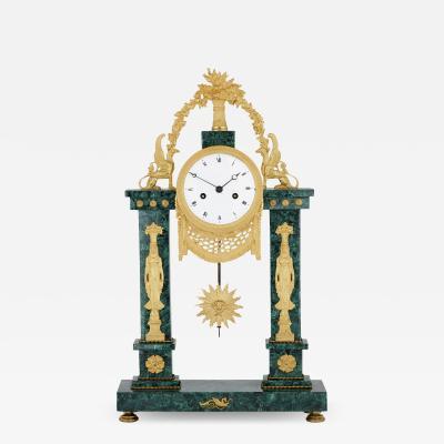 Neoclassical Louis XVI period French mantel clock