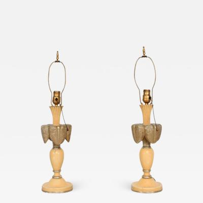 Neoclassical Sculptural Table Lamps circa 1940s