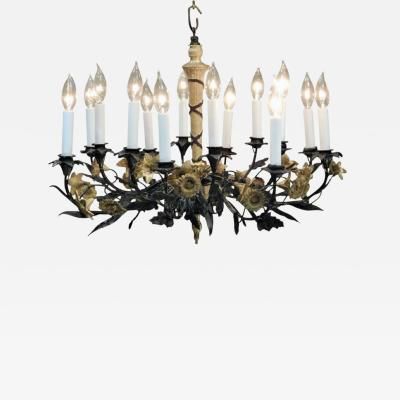 Neoclassical Style Foliate 14 Light Chandelier