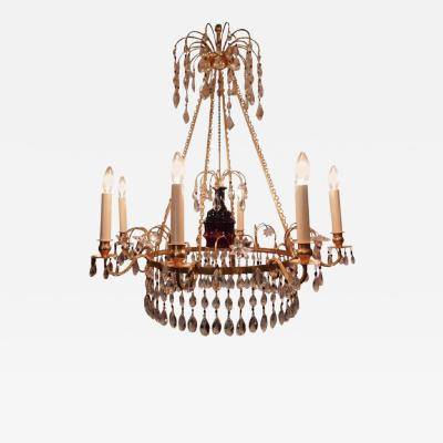 Neoclassical Style Six Light Russian Chandelier