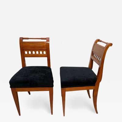 Neoclassicist Biedermeier Side Chairs Cherrywood South Germany circa 1820