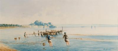 Neopolitan Fishing Scene
