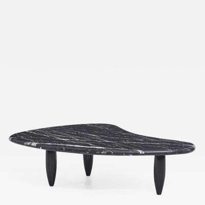 Nero Marquina Biomorphic Marble Coffee Table
