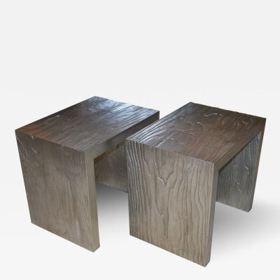 Neuland I Silver Leafed Side Tables
