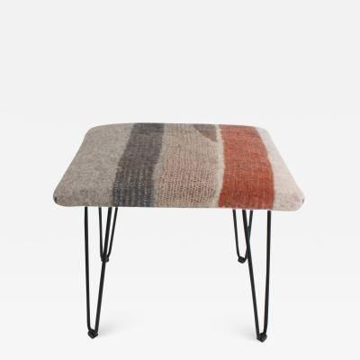 New Contemporary Hand Felted Wool Stool