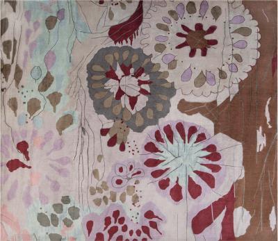 New Contemporary Silk Rug