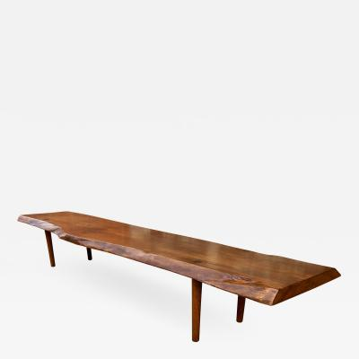 New Hope School Black Walnut Table Bench