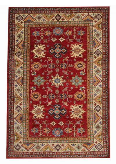 New Traditional Afghan Kazak Rug