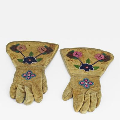Nez Perces Beaded Gauntlets